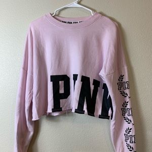 PINK Victoria's Secret pink cropped long sleeve to